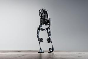 Mechanical equipment like this Ekso Bionic suit, which currently requires users to possess some degree of mobility, could potentially be paired with brain-controlled technology to serve paralyzed users.