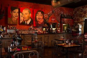 Todo un Poco co-owner Marie Mertz is an art lover and collector. All of the restaurant's paintings are original works she commissioned.
