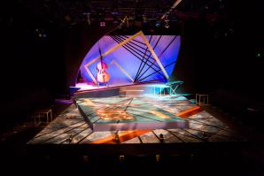 """The set for Idris Goodwin's """"Bars and Measures,"""" which will end its run at B Street Theatre on Sept. 27, marries structural design with elements of movement and careful light choreography. Though many audience members probably don't realize it, the amount of conceptualizing, visualizing and manpower it takes to be prepared for opening night is immense."""
