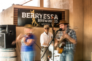 Berryessa Brewing Co. is as much a community center as it is a taproom. Patrons can regularly find fresh produce for sale near the food truck and pickup Wiffle ball games.