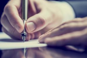 This gentleman planned ahead, and now — he's signing something.   (shutterstock)