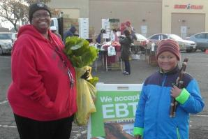 The farmers market on Florin Road accepts CalFresh and EBT  (photo courtesy of Alchemist CDC)