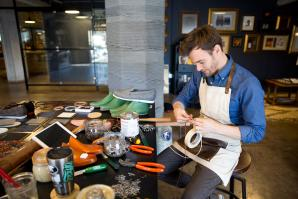 Business at the WAL is booming for Benjamins Shoe Corp. Since owner Benjamin Schwartz opened at the new location, what began as a side hobby has expanded into a full shop that ships internationally, offering shoe styles for both men and women.