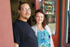 Harley and Zahna Smith, who opened Wandering Gypsy Artistry last year, are putting down roots in Isleton, which they say is an ideal spot for their family.