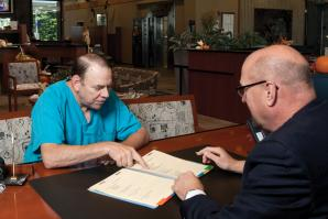 Dr. Mark Gjerde has been managing his business and personal finances with Dan Lawrence, the president of Elk Grove Commerce Bank, a Bank of Stockton branch, since 2007