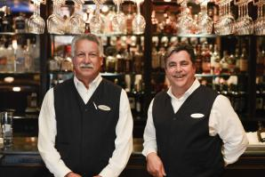 Augie Moran and Rob Lopez have been tending bar inside Dawson's at the Sacramento Hyatt since its opening day in 1988.