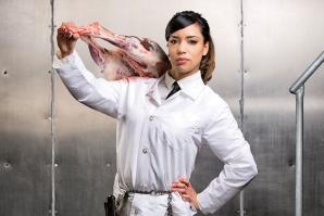 Cindy Garcia of the UC Davis Meat Lab