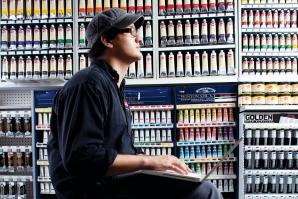 Andrew Cook, assistant manager, Utrecht Art Supplies