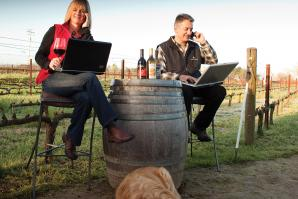 Markus and Liz Bokisch, owners, Bokisch Vineyards in Lodi.