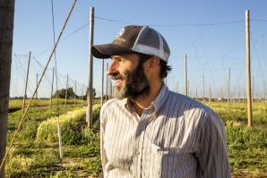 J-E Paino runs the Ruhstaller beer label. (Photo by Joan Cusick)