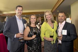 Kevin Roberts, financial representative with Northwestern Mutual; Rachel Bennett, Director of Sales Miles Treaster & associates; Lorretta Laslo, development manager, Intech Mechanical Company, Inc and Uri Carrazco, owner, Carrazco & Associates
