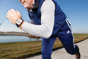 Bruce Coolidge, programming director for Capital Athletic Club in downtown Sacramento, wears a Garmin Forerunner 305.