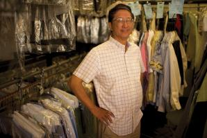 Kyle Lam, owner of Leibel's Cleaners & Tailors