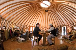 The community yurt in Martis camp