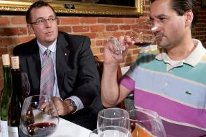 The Firehouse Restaurant sommelier Paul Marsh and wine buyer Richard Macias agree - high alcohol or not, drink what you like